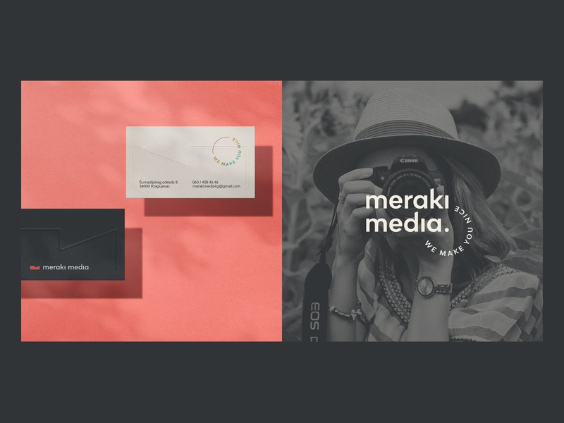 Meraki media pt.2 socialmediamarketing photography businesscard simple minimal branding identity logo