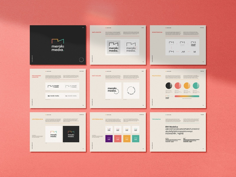Meraki media pt.3 layout brandguide simple minimal identity logo