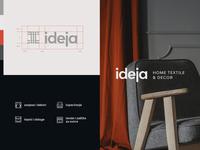 Ideja pt.1 fabrics textile branding simple minimal identity logo