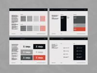 Ideja pt.2 layout brandguide brandbook fabrics textile simple minimal branding identity logo