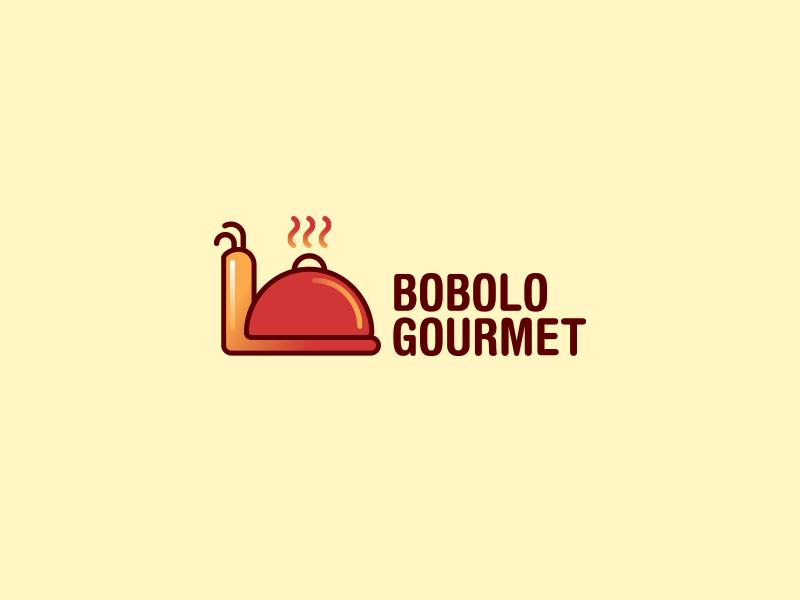 Bobolo Gourmet dish cooking modern snail logo
