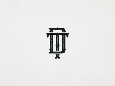 TD Monogram logotype symbol typography letters monogram branding