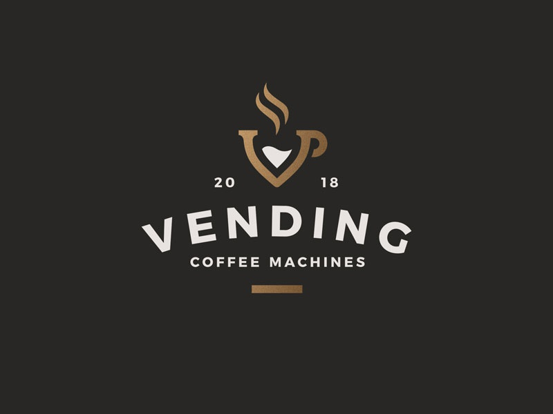 Vending pt.1 coffee machines retro identity logo vending coffee