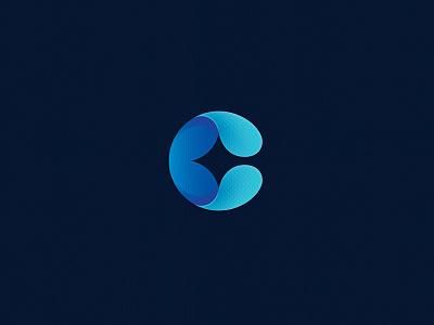 C gradients bling c letter logo