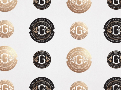 Grebac pt.2 logo custom letter foil stamp seal identity badge