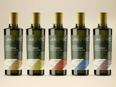 Lakovic pt.2 branding olive oil label packaging identity