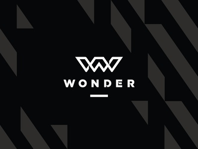 Wonder, women's activewear apparel clothing women fashion wonder letter w monogram identity logo