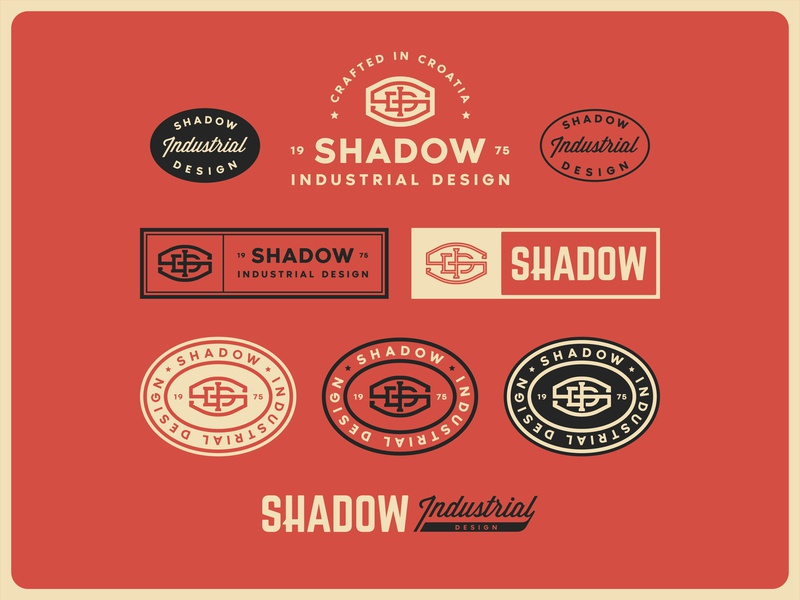 Shadow Industrial Design industrial branding marks lockup typography badge identity logo