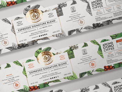 Aroma d'Oro pt.2 branding label design coffee