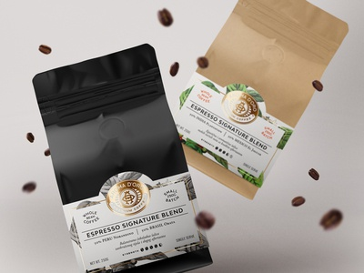 Aroma d'Oro pt.3 premium label design packaging coffee