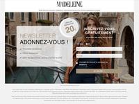Madeleine - Landing Page