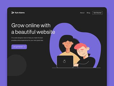 Kyle Adams Design Website redesign web illustraion web design business design web designer