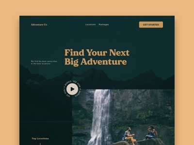 Adventure Co Concept uxdesign ux uidesign uiux ui landing page website design webdesign website web