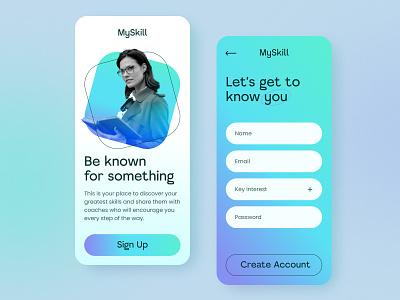 MySkill Mobile Concept app learning app ux design uiux ux mobile ui mobile webdesign design web