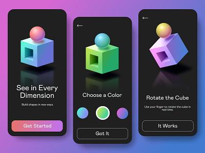 Shape Maker mobile ui 3d figmadesign figma webdesign design web ux ui