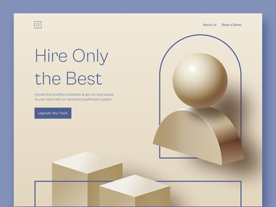 Quality Hire (Made with QuickShapes) webdesign ux design ui design uiux web design design web figma resource figma illustraion