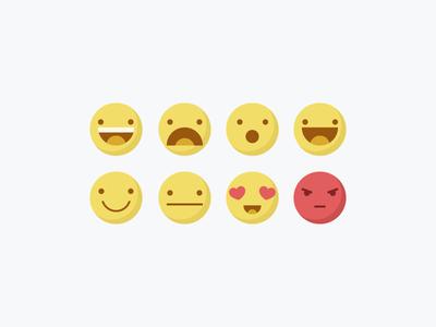 Emojis Pt.1 emoji emojis expressions happy sad angry love chat illustrations icons set