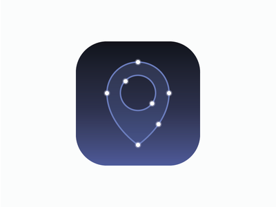 Starfinder  ios icon star finder location space app night sky