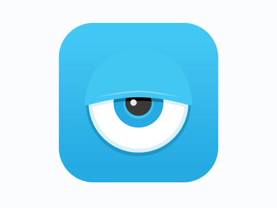 Blue Eye (iOS) app blue eye bored sad lonely indifferent icon ios see game adventure