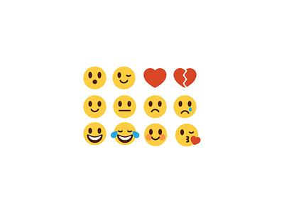 Other Emoji emoji icons illustrations happy sad love surprise expressions