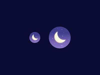Nighttime App apple watch icon stars glow dark app sky moon night