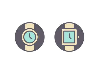 Which Watch? time decision ui set icons select choose watch