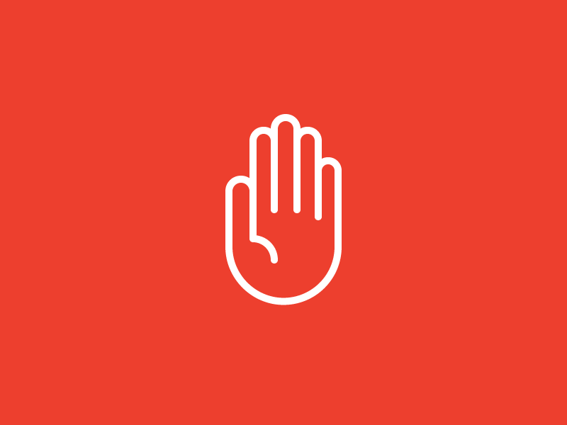 Wait a Minute ux ui wait stop hand article design icon