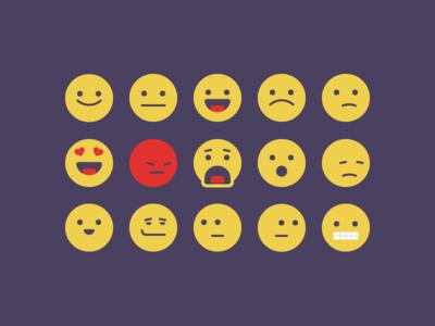 Emoji Faces 2.0 reactions set emoji faces