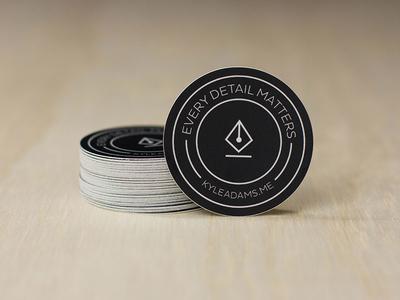 New Stickers mark brand handout round stickers