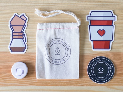 The Coffee Love Icon Collection bag mug cup chemex product physical pack icons coffee