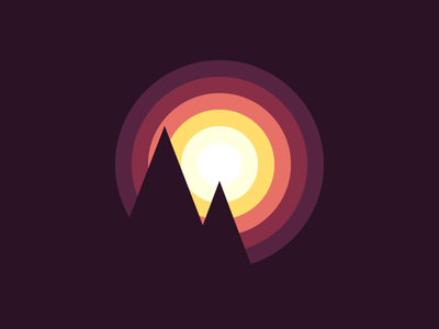 Using Light to Make Better Icons sun mountains article blog icon design icon light