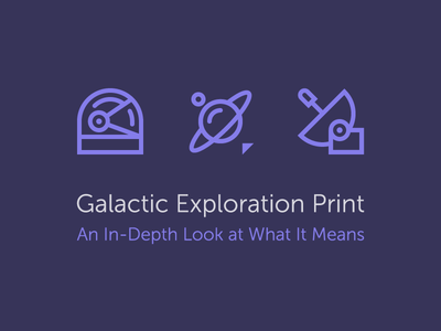 The Meaning Behind Galactic Exploration screen print exploration galactic space icons product print