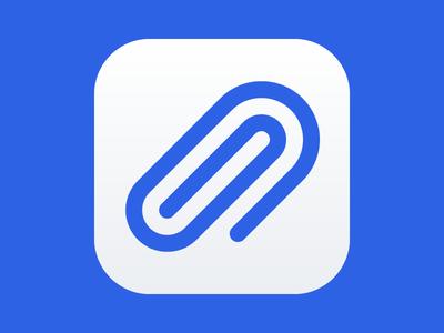 Paper Connect App ui ios paperclip concept icon app clipper