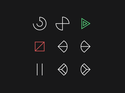 Cryptic Icons controls pause stop play music cryptic icons