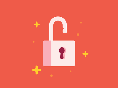 Unlock the Power sparkle key illustration power unlock icon