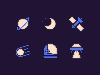 Space Adventure Icons