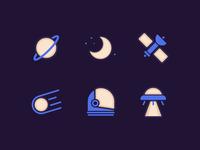 Space Adventure Icons
