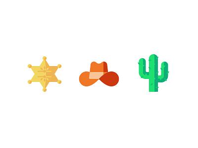 Out West texas sheriff badge cowboy cowboy hat cactus western