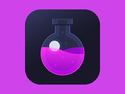 Potion App Icon glass magic ios icon app potion