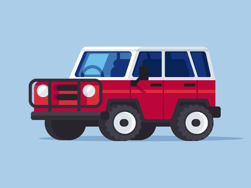 Off Road Exploring illustration adventure vehicle suv explore offroad