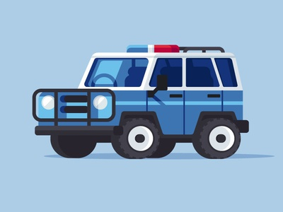 Beach Exploring illustration vehicle police patrol suv explore beach
