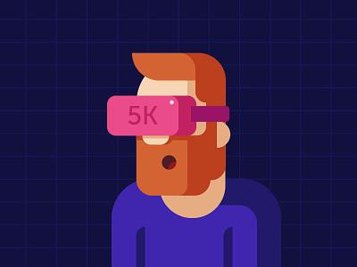 5k?! illustration milestone 5000 5k followers virtual reality