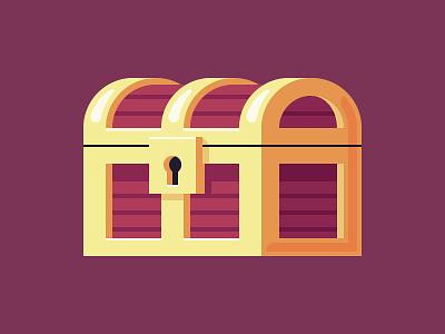 Maximum Loot! illustration gold lock loot chest treasure