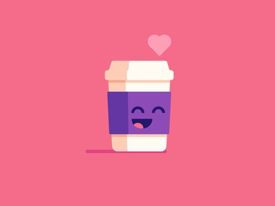 Cute Coffee illustration happy love coffee cup cute coffee