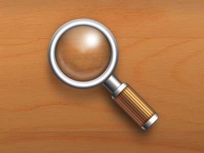 Magnify Icon Final (PSD) psd magnify magnifying glass metal handle photoshop icon
