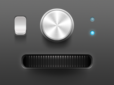 Free PSD | UI Examples free psd ui knob switch lights turn wheel
