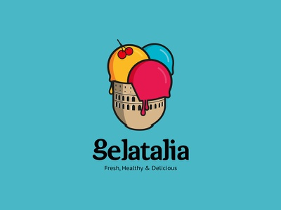 Gelatalia ice cream italy healthy identity gelato delicious natural roma roman greek colosseum