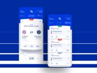 Betswipe Betting App mobile ux ui swipe sport ios interface interactive football betting bets bet app