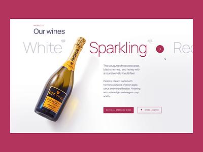Fitvine website store vine product motion interface animation desktop design ux web ui