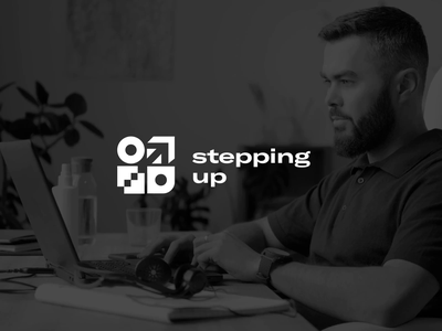 Stepping Up Identity coaching education development management brand identity brand design animated